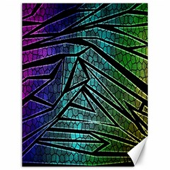 Abstract Background Rainbow Metal Canvas 12  x 16