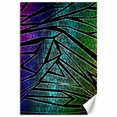 Abstract Background Rainbow Metal Canvas 12  x 18