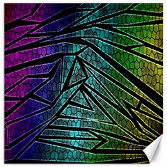 Abstract Background Rainbow Metal Canvas 16  x 16