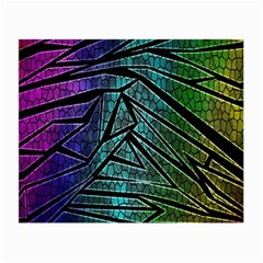 Abstract Background Rainbow Metal Small Glasses Cloth (2-Side)