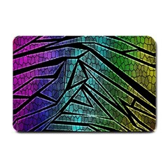 Abstract Background Rainbow Metal Small Doormat