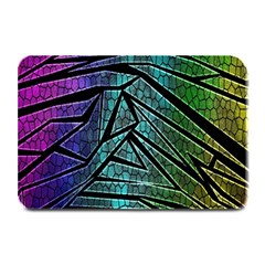 Abstract Background Rainbow Metal Plate Mats