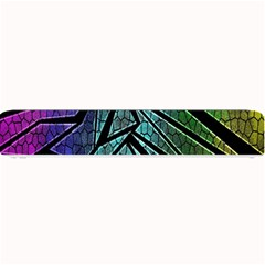 Abstract Background Rainbow Metal Small Bar Mats