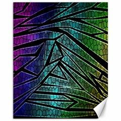 Abstract Background Rainbow Metal Canvas 11  x 14