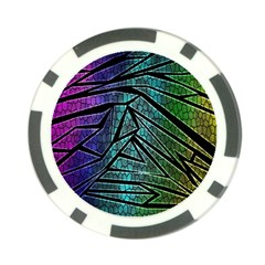 Abstract Background Rainbow Metal Poker Chip Card Guards