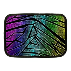 Abstract Background Rainbow Metal Netbook Case (Medium)