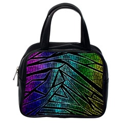 Abstract Background Rainbow Metal Classic Handbags (One Side)