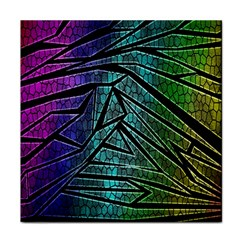 Abstract Background Rainbow Metal Face Towel