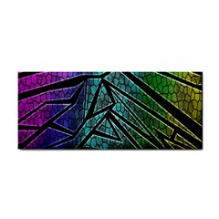 Abstract Background Rainbow Metal Cosmetic Storage Cases
