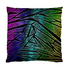 Abstract Background Rainbow Metal Standard Cushion Case (One Side)