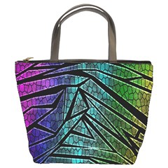 Abstract Background Rainbow Metal Bucket Bags