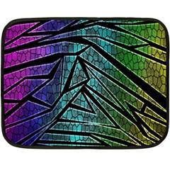 Abstract Background Rainbow Metal Fleece Blanket (Mini)