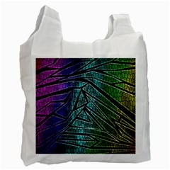 Abstract Background Rainbow Metal Recycle Bag (One Side)