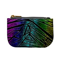 Abstract Background Rainbow Metal Mini Coin Purses