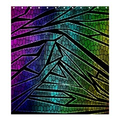 Abstract Background Rainbow Metal Shower Curtain 66  x 72  (Large)