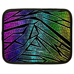 Abstract Background Rainbow Metal Netbook Case (XL)
