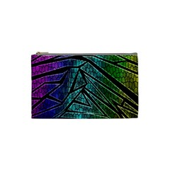 Abstract Background Rainbow Metal Cosmetic Bag (Small)