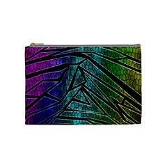 Abstract Background Rainbow Metal Cosmetic Bag (Medium)
