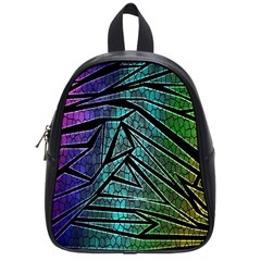 Abstract Background Rainbow Metal School Bags (Small)