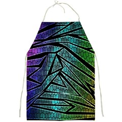 Abstract Background Rainbow Metal Full Print Aprons