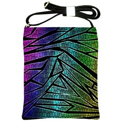 Abstract Background Rainbow Metal Shoulder Sling Bags