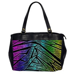 Abstract Background Rainbow Metal Office Handbags (2 Sides)