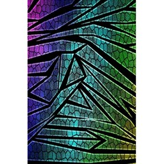 Abstract Background Rainbow Metal 5.5  x 8.5  Notebooks