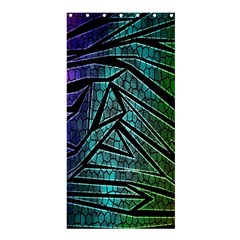 Abstract Background Rainbow Metal Shower Curtain 36  x 72  (Stall)