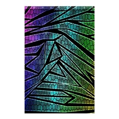 Abstract Background Rainbow Metal Shower Curtain 48  x 72  (Small)