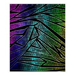 Abstract Background Rainbow Metal Shower Curtain 60  x 72  (Medium)