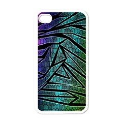 Abstract Background Rainbow Metal Apple iPhone 4 Case (White)