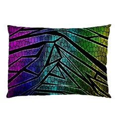 Abstract Background Rainbow Metal Pillow Case (Two Sides)