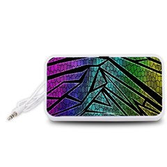 Abstract Background Rainbow Metal Portable Speaker (White)