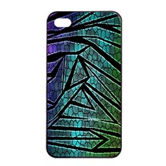 Abstract Background Rainbow Metal Apple iPhone 4/4s Seamless Case (Black)