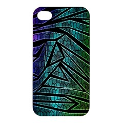Abstract Background Rainbow Metal Apple iPhone 4/4S Hardshell Case