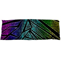Abstract Background Rainbow Metal Body Pillow Case (Dakimakura)