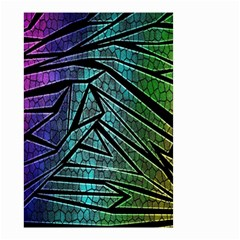 Abstract Background Rainbow Metal Small Garden Flag (Two Sides)