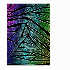 Abstract Background Rainbow Metal Large Garden Flag (Two Sides)