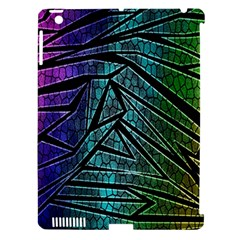 Abstract Background Rainbow Metal Apple iPad 3/4 Hardshell Case (Compatible with Smart Cover)