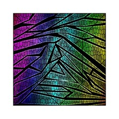 Abstract Background Rainbow Metal Acrylic Tangram Puzzle (6  x 6 )