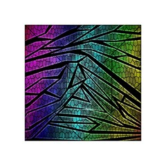 Abstract Background Rainbow Metal Acrylic Tangram Puzzle (4  x 4 )