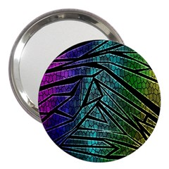 Abstract Background Rainbow Metal 3  Handbag Mirrors