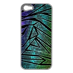 Abstract Background Rainbow Metal Apple iPhone 5 Case (Silver)