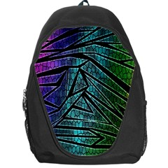 Abstract Background Rainbow Metal Backpack Bag