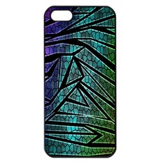 Abstract Background Rainbow Metal Apple iPhone 5 Seamless Case (Black)