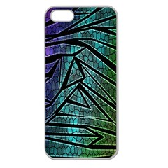 Abstract Background Rainbow Metal Apple Seamless iPhone 5 Case (Clear)