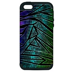 Abstract Background Rainbow Metal Apple iPhone 5 Hardshell Case (PC+Silicone)