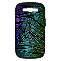 Abstract Background Rainbow Metal Samsung Galaxy S III Hardshell Case (PC+Silicone)