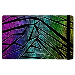 Abstract Background Rainbow Metal Apple iPad 3/4 Flip Case