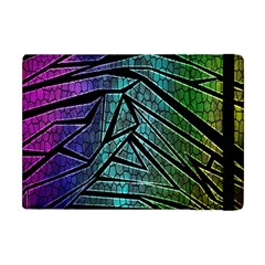 Abstract Background Rainbow Metal Apple iPad Mini Flip Case